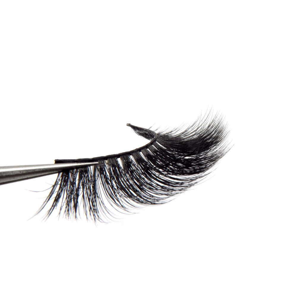 PBT Fiber Luxury Volume Silk Natural Long Thick False Eyelashes 3D Synthetic Faux Mink Lashes