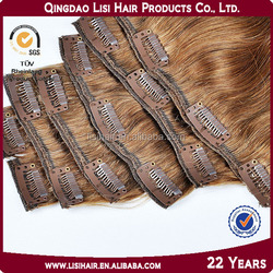 Alibaba Golden Supplier 100% Remy Human Hair Cuticles Correct Kinky Straight clip hair extensions double weft