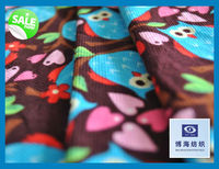 colourful owl pattern printed corduroy manufacturer china 16w cotton corduroy fabric use for leggings