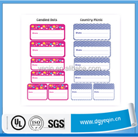 China scrapbook decoration gap filling note pvc sticker