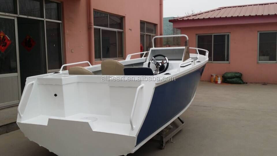 China Builder 5m Aluminium V Hull Side Console Fishing Vessel