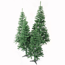 Wholesale plastic iron base indoor decoration well stand mini artificial christmas tree