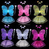 Hot sale 2015 New double layer Butterfly Angle Costume Fairy Wings for girls