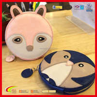 Lovely Animal Shape Leather Coin Purse Promotion Gift, Zipper Roud Cion Purse Wholesale