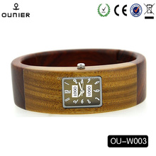 Circle design unique quartz watch watch men 2016 latest style wooden wrist watch
