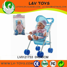 New arrival 10.5 Inch baby doll with stroller