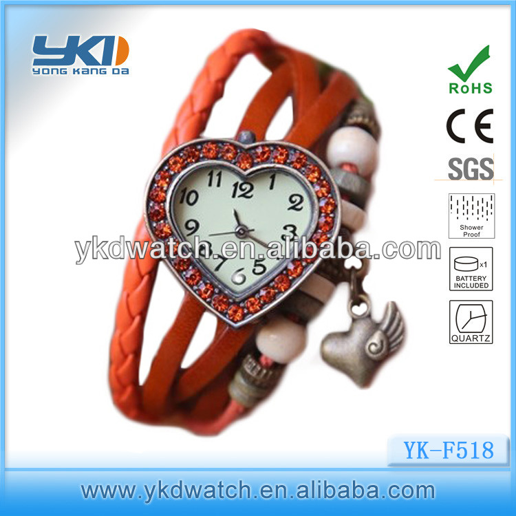 jewelry leather bracelet gold lady watch decoration wholesale fashion watch jewelry bell and rose quartz watches