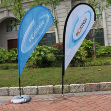 Custom advertising promotional teardrop outdoor flag banner
