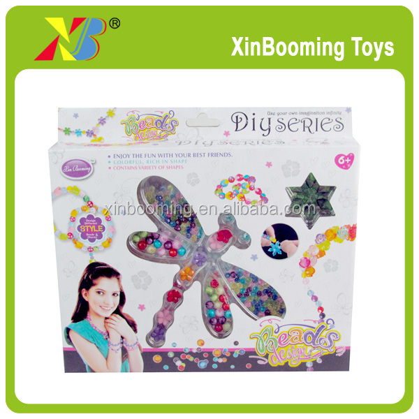 Fashion diy wear jewelry beads <strong>toy</strong> ,bead necklace designs jewelry set for girl