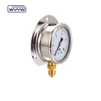 liquid filled brass connection pressure gauge