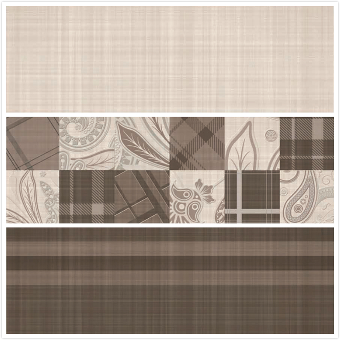 Grid lines stytle coffee color dining room wall ceramic tile