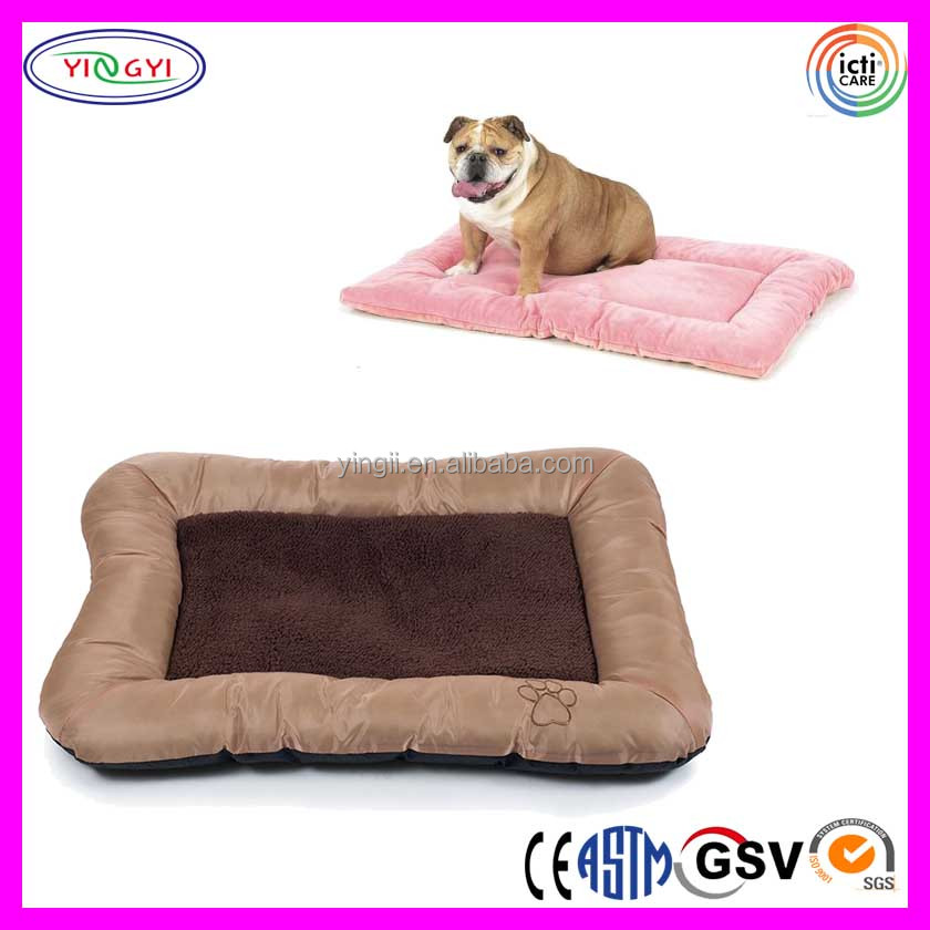 B635 Warm Plush Sleep Reversible Pet Bed Cozy Soft Pet Crate