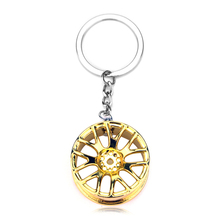 New arrival Man Women Gifts three tones Car wheel Key Chain Key Ring Metal Keychain
