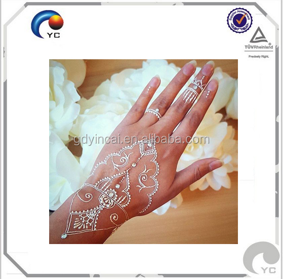 The new arrivals White Henna Tattoos, Floral, Mehndi tattoo,Body art waterproof tattoo sticker in hot sale