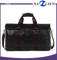 High quality stylish new design multi-color vintage waterproof leather travel bag for men