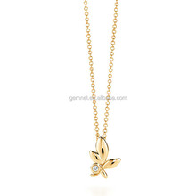sterling silver 925 necklace without stones gold plated jewelry wholesale