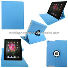 Altra thin 360 degree Rotating PU leather smart flip tablet case universal for ipad 2/3/4* free logo