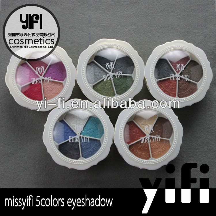 Miss yifi 5 Colors Palette Eyeshadow Eye Shadow Makeup 5 Eyeshadow Palette makeup tips for blue eyes