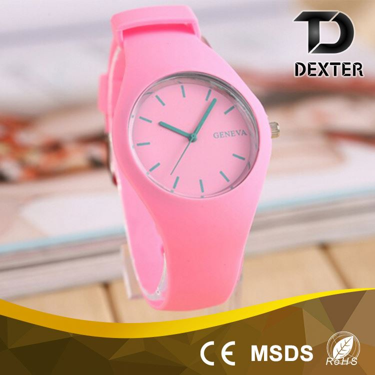 Fashionable 377A original battery woman silicone sports watch