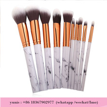 10 piece professional high quality marble makeup brushes foundation brush