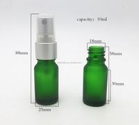 Beauty 10ML sample mini esential perfume glass bottle with silver spray bottle
