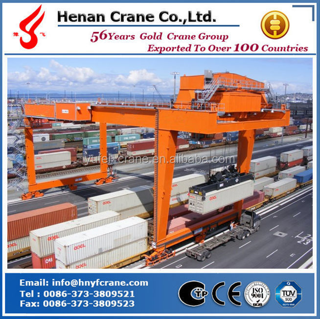 45t rail mounted container gantry crane used in yard,port