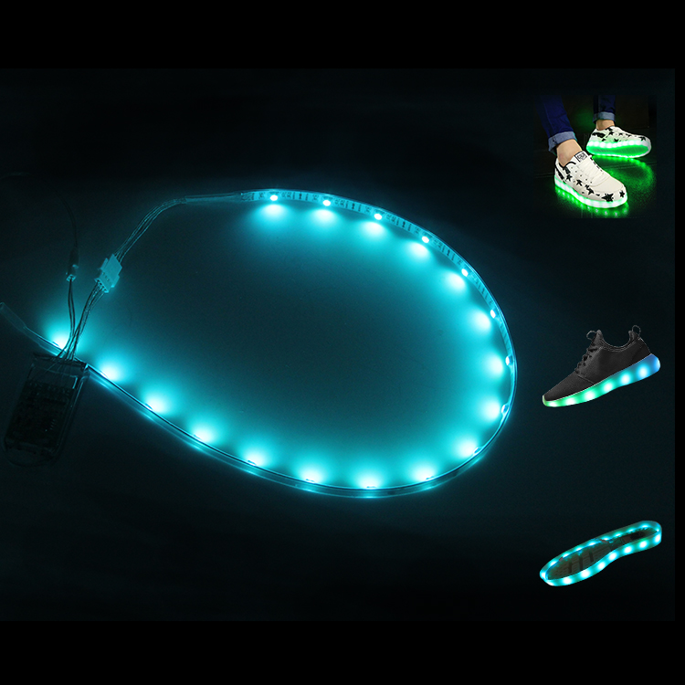 China Supplier New Product led shoes light,colorful roll up led light,battery powered led ribbon lights
