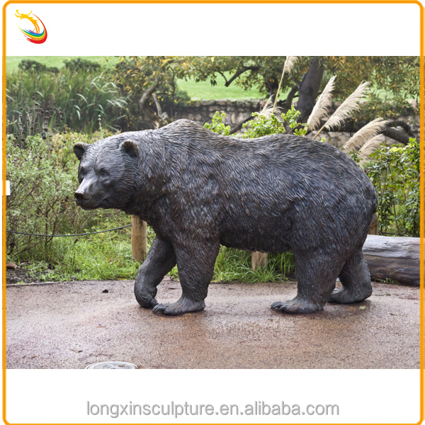 High Quality Outdoor Life Size Bronze Bear Sculpture Bear Statue For Decoration