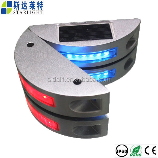 Best quality 125*43*30MM bright 6led solar led reflector road