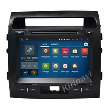 "Kirinavi WC-TL9006 9"" android 5.1 car radio dvd player for toyota land cruiser 200 2007-2013 multimedia steering wheel control"