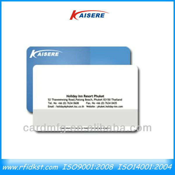 Double side printed plastic cards with signature panels