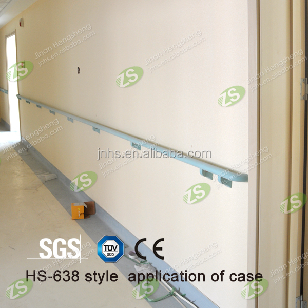 Simple Design Lower Price Economical Choice PVC Hospital Handrail with Aluminum Inner Tube