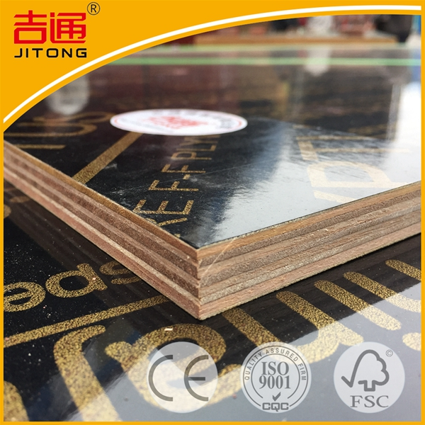 18mm Black Film Faced Construction Formwork Plywood