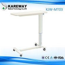 Aluminum over bed table hospital bed tray table