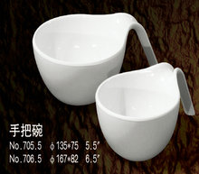 High Quality Melamine plastic mixing Bowl with handle