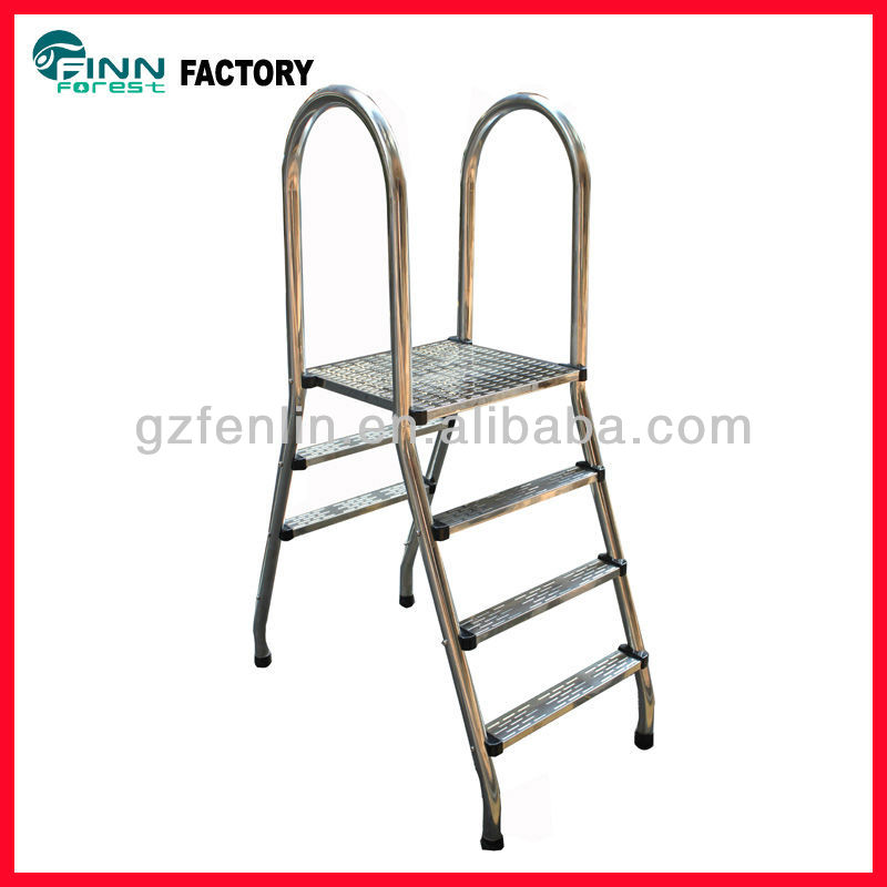 (SA series) Stainless steel 304 swimming pool two sides pool ladder