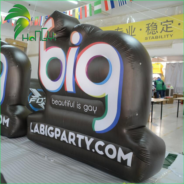 Airtight PVC inflatable letter sign characters for promotion