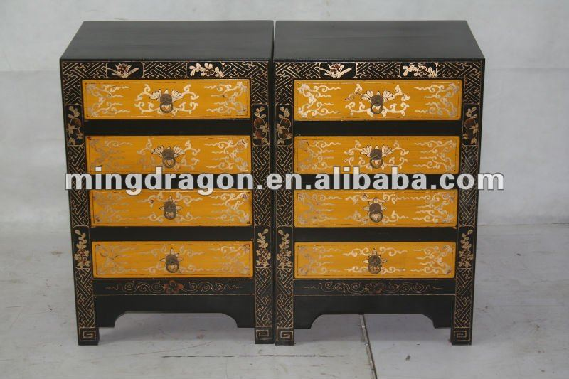 beautiful painted gold drawing bedroom night table/bedstand