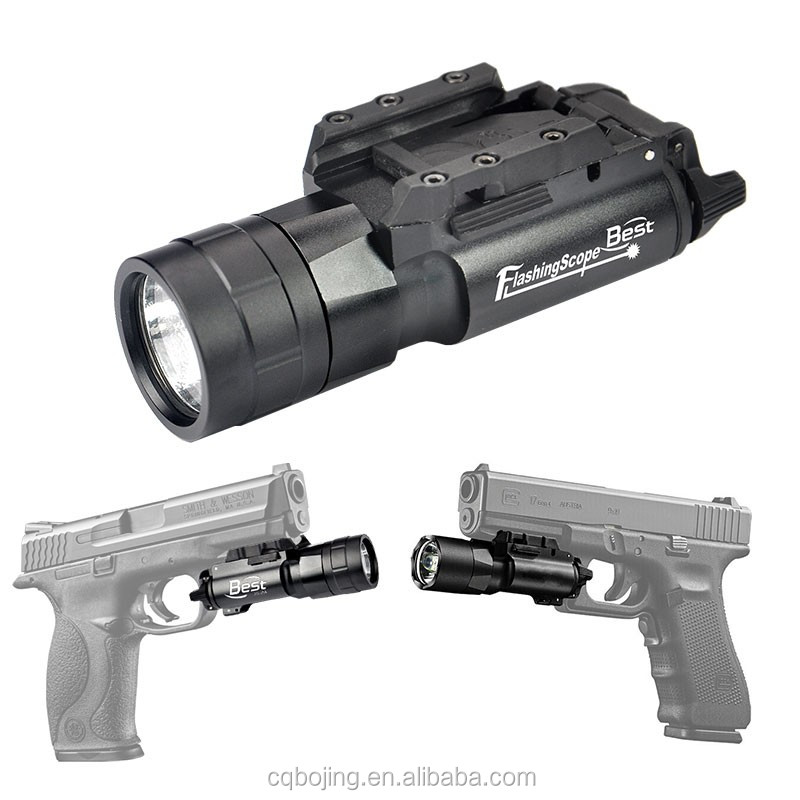 JG-2A 420 Lumen Cree Tactical Handgun Pistol Flashlight LED white light