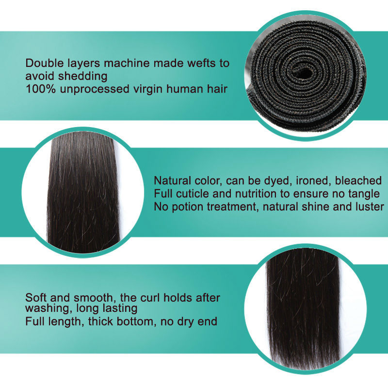Factory price straight hair manufacturers in Brazil remy human hair wholesale