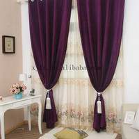 High quality 100% polyester flame retardant chenille jacquard curtain &sofa fabric