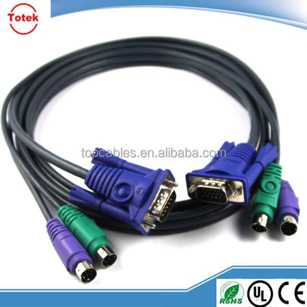 Custom M/M KVM switch cables with VGA and PS2 connectors
