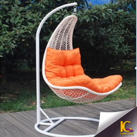 Consumer goods woven outdoor furniture adult single seat patio swing kids swing