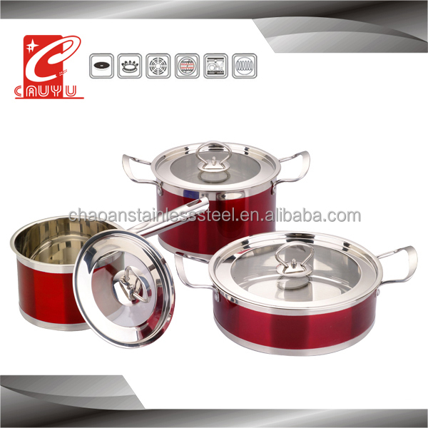 stainless steel stove induction based cookware set