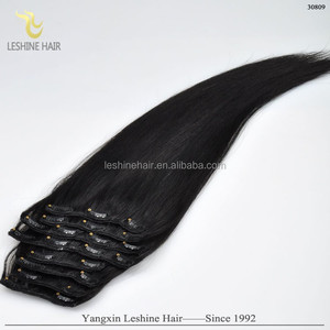 Unprocessed Brazilian Grade 9A Hair Extension Clip In Standard 120g Factory Vendors