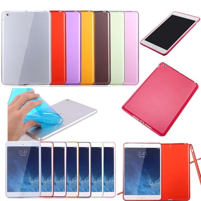 For iPad Mini 4 Cases Luxury Soft TPU Gel Crystal Clear Case For iPad Mini 4 Mini4 Slim Anti-scratch Transparent Tablet Cover