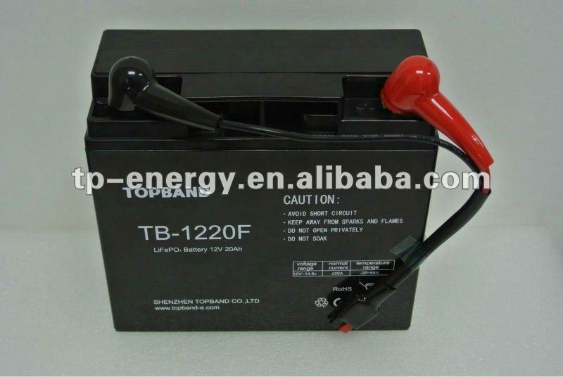 Factory price!!! lithium ion battery 12v for golf trolley