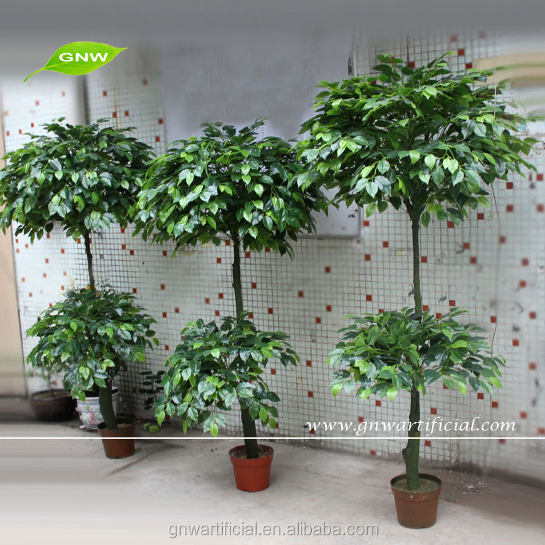 GNW BTR038 Artificial Bonsai Green Leaves Banyan Ornamental Tree for home decoration