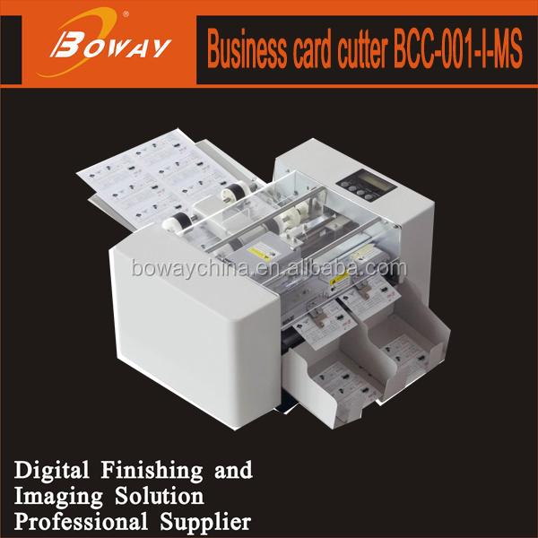 Double rubbing automatic feeding A4 laminated paper business card cutter for sale