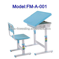 Plastic adjusted kids study table chair FM-A-001